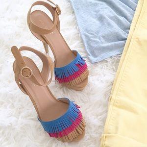 Shoes - Fringe Platform Sandals